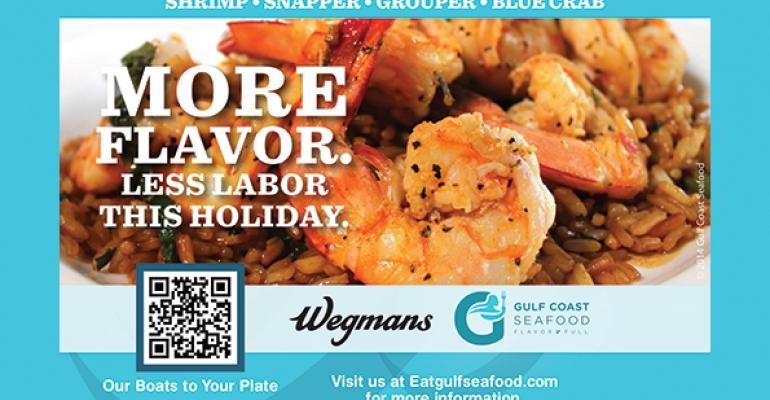 Wegmans introduces private label Gulf shrimp