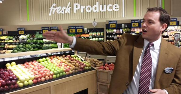 Daniel Shronce fresh strategy coordinator at Food Lion said during a store tour Wednesday that abundance and seasonality are key to growth