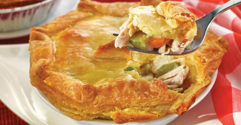 The pot pies are sold at all WinnDixie BiLo and Harveys locations mdash nearly 750 stores