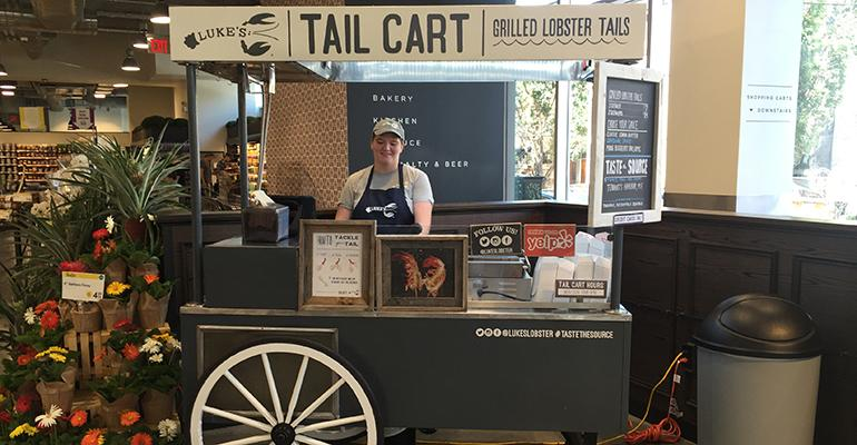 New Brooklyn Whole Foods showcases lobster cart