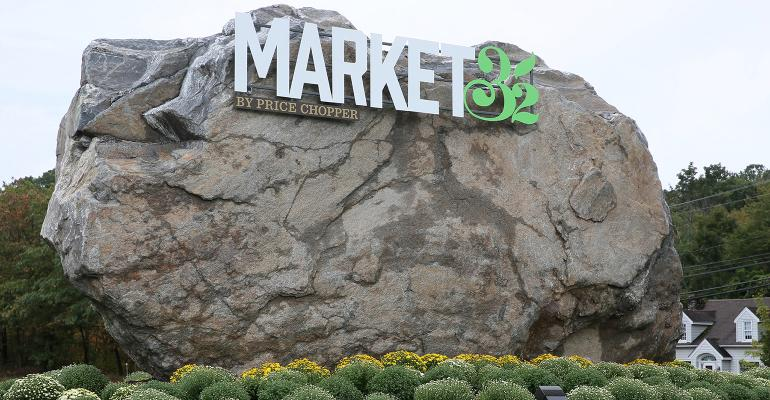 A rocksolid sign welcomes shoppers to Price Chopper39s new Market 32 store in Oxford Conn