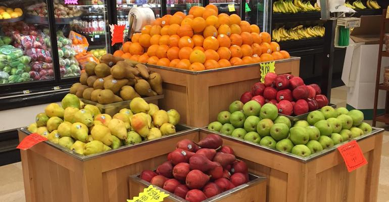 Loose oranges are king of the mountain in produce at Kishman39s IGA Fresh Market in Minerva Ohio