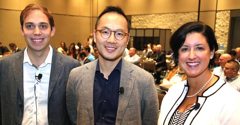 At the PMA Fresh Summit panel on the future of online food shopping from left Eric Stone vice president at FreshDirect Loren Zhao cofounder of Shanghaibased Fruitdaycom and Sherry Frey senior vice president at Nielsen