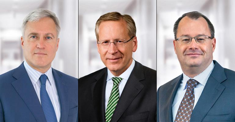 Frans Muller left will fill in as Food Lion and Hannaford39s interim leader and Kevin Holt middle will head up the Giant and Stop amp Shop banners following the departure of former GiantStop amp Shop head honcho James McCann right