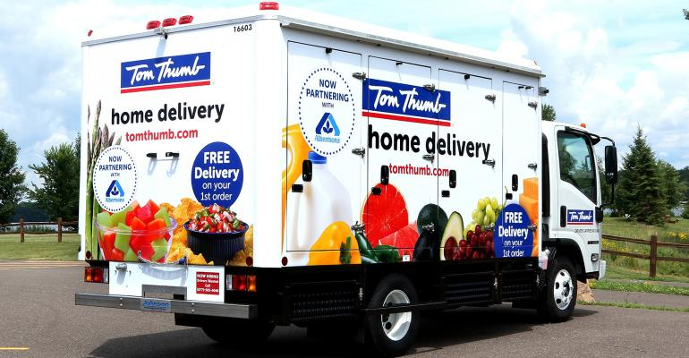Albertsons is partnering with Tom Thumb for home delivery in the DallasFort Worth area