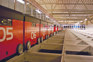 Swisslog's AutoStore is an example of a piece-picking system that accommodates slow-moving  HBC/GM items not necessarily delivered to warehouses on pallets.