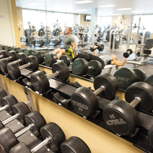 Safeway employees around headquarters are encouraged to take advantage of the company's full-service fitness center.