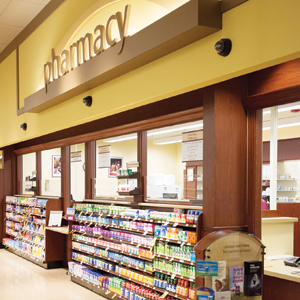 Safeway's new sandbox store near its headquarters includes a pharmacy with a private consultation room.