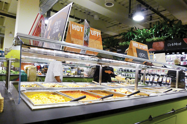 Whole Foods maintains a variety of prepared-food offerings in its smaller locations, although full-service dining is out.