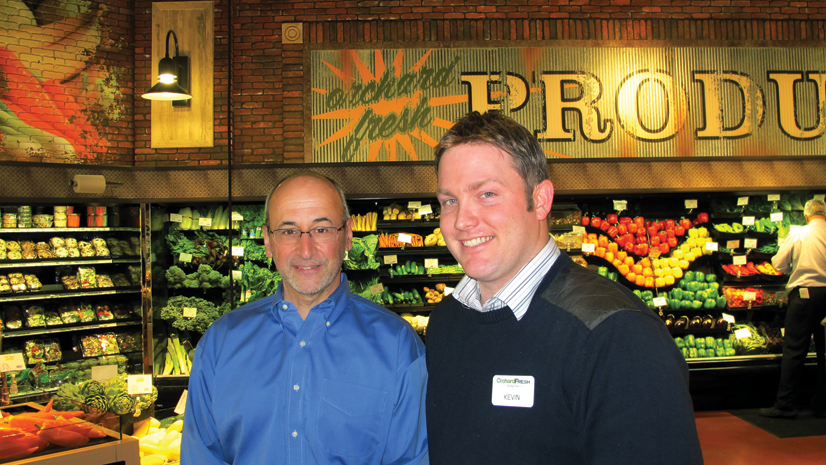 Tops CEO Frank Curci, left with Orchard Fresh director Kevin Donovan.