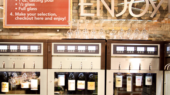 Retailers like Dierbergs are setting up stations that offer preset pours of temperature controlled wine.