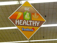 Foodtown Be Healthy Sign