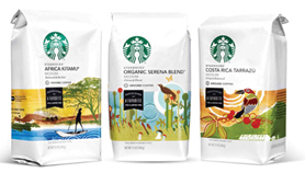 Safeway and Target merchandise Starbucks exclusives.