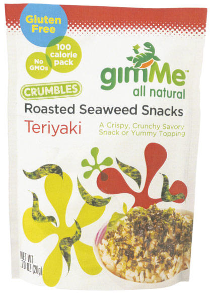 GimMe seaweed snacks are aimed at school-age kids.