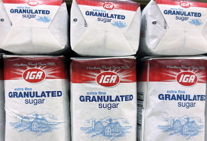 IGA-brand sugar is the fastest-selling item in the store.