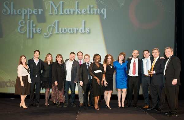 "The Coca-Cola team celebrates its Effie award last night for the ""Effortless Meals"" program at Walmart."
