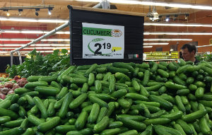 Persian cucumbers at Wholesome Choice Market.