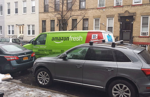 One double-parking adventure aside, AmazonFresh deliveries were quick and efficient to the blogger's Brooklyn residence.