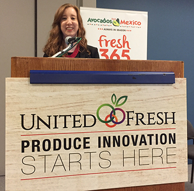 Liz Webber suggested several produce innovations to a United Fresh audience Monday.