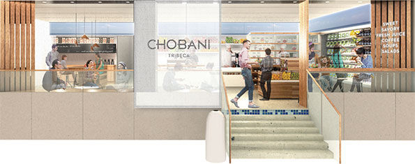 A rendering of the Chobani Café opening in a New York Target in October.