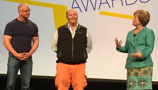 "TV chefs Robert Irvine and Mario Batali and FMI CEO Leslie Sarasin discuss how to make ""rock stars"" out of male shoppers."