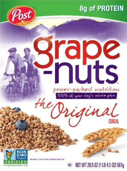 Post Grape Nuts no GMOs.